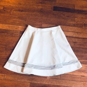 ASOS Sea Foam Green Scuba Skirt With Mesh Detail